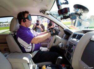 Blind Car Driver