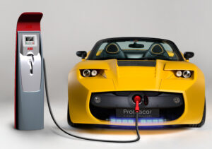 yellow electric car charger
